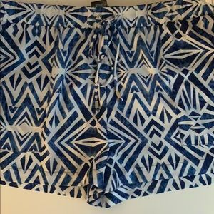 blue and white flowly shorts